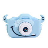 2.0 Inches IPS Screen 1080P HD Mini Digital Camera for Children Shockproof Camcorder Cartoon Stickers Camera
