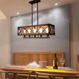 110-240V Industrial Pingente 5 lâmpadas lustre de teto lâmpada luminária barra de cozinha sem lâmpada
