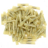 100pcs Yellow 12-10AWG Heat Shrink Butt Wire Crimp Connector Electrical Terminal
