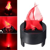 Хэллоуин 3W Prop LED Fake Flame Лампа Факел Flood Light Fire Pot Home Decor AC85-260V