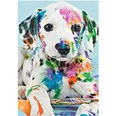 DIY Diamond Painting Animal Cachorro Pintura de parede pendurada fotos decorações de parede feitas à mão Desenho de presentes para crianças adulto