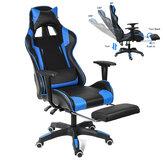Cadeira de jogos ergonômicos de alta corrida para jogos cadeira reclinável computador portátil mesa de couro pu cadeira de escritório com apoio para pés