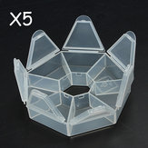 5pcs Clear Beads Organizer Storage Containers Case Electronic Part Box Display