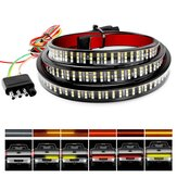 12V 60 Inch 72SMD Sequentieel amberrood LED knipperend Grill Stroboscoopverlichting Waterdichte balk Richtingaanwijzer Waarschuwing Herstel Autopech