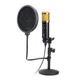 Kit micro de microphone vocal d'enregistrement sonore à condensateur USB dynamique audio avec support de support