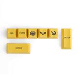 7 Tasten Gelbe Emoticons Ergänzung Keycap Set Kirschprofil R4 R2 PBT Sublimation Keycaps für mechanische Tastaturen