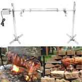 Large Grill Rotisserie Spit Roaster Rod Charcoal BBQ Pig Chicken 15W Motor Kit