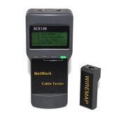 SC8108 Taşınabilir Çok İşlevli Dijital LCD Kablosuz PC Veri Ağı CAT5 RJ45 LAN Telefon Dedektör Ölçer Uzunluk Kablo Test Cihazı