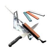 Amolador de faca profissional MYVIT Todo em aço inoxidável Ferramentas de sistema de afiação de cozinha Ângulo fixo com 4 pedras de amolar