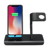 10 Вт 2 В 1 Qi Беспроводное Зарядное Устройство Быстрая Зарядка Телефон Часы Держатель Для iPhone Samsung Huawei Apple Watch Серия