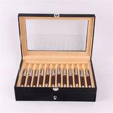 24 أقلام نافورة عرض حالة حامل بو الجلود جامع التخزين المنظم صندوق سطح المكتب المنظم