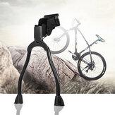 BIKIGHT Metalowe podwójne nogi rowerowe podpórki sprężynowy tylny boczny stojak rowerowy na rower szosowy 19-28 cali