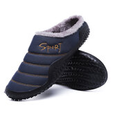 Men's Winter Warm Shoes Waterproof Non-slip Indoor Outdoor Snow Slippers
