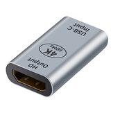 Type-CからHDDPアダプターコネクタUSB-CメスからHDDP1.4メスコンバーターMacBookNotebook用4K @ 60HZビデオエクステンダー