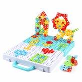 188 / 275db kicsi kézi barkácsolás játék anya szerelés 3D csavaros puzzle játék építőelemek kreatív ajándékok gyerekeknek