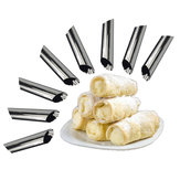 8 Pcs 1 Set Danish Stainless Steel Tube Cream Molds Cake Dessert Pastry Cream Molds Croissant Mold Stainless Steel DIY Baking Mold Cake Kitchen Mold Cooking Tool