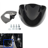 Motorcycle Front Chin Spoiler Fairing Mudguard Cover Glossy Black For Harley Dyna 2006-2017