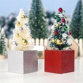 2 pièces Mini arbre de noël centre commercial bureau à domicile décorations arbre ornement cadeaux créatifs arbre artisanat enfants jouets