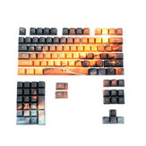 104 Keys Saturn Keycap Set OEM Profile PBT Five-sided Sublimation Keycaps for Mechanical Keyboard