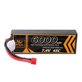 ZOP Power 7.4V 6000mAh 45C 2S Lipo Батарея T Plug для RC Авто