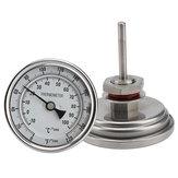 """ПивоварениепивоваренногопиваТермометрWeldlessBi-metal Термометр Набор 3-дюймовый зонд и 2-дюймовый зонд 1/2 """"MNPT 0 ~ 220F."""