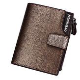 男性PUレザーカジュアル財布掛け金ジッパークレジットカードホルダーコインバッグ