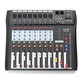 EL M CT80S 8チャンネルライブスタジオ48V Phantom DJ KTVカラオケ用オーディオミキサーミキシングコンソール