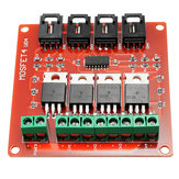 Four Channel 4 Route IRF540 MOSFET Button Switch Module For Motor Drives Lighting Dimmer
