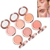 6 färger Rose Makeup Face Blush Brighten Face Fine Powder