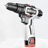 Nanwei 18V Brushed Impact Drill 36N/M Li-ion Rechargeable Electric Flat Drill Screw Driver 2 Speeds 25+3 Gears + 2 Battery