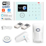 Tuya Wireless Home Security assaltante WiFi GSM Kit de sistema de alarme App Controle Remoto Suporte Alexa e Google Assistant