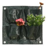 4 tasche Home Garden Balcone Sacchetti per piante Hanging Flower Pot PE Planting Grow Bag