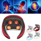 Multifunctional 4D Massager With Remote Control Electric Wireless TENS Pulse Hot Compress Neck Protector