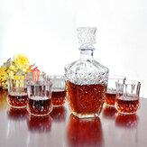 Decanter líquido portátil Decanter de vidro potável álcool garrafa clara garrafa