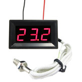 Red LED DC 12V Digital Thermoelement Thermometer Temperaturmesser 0 ~ 999 ° C mit Sonde