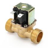 3/4 inch 12V DC VDC Slim Messing Elektrische Solenoid Valve NPSM Gas Water Air N / C