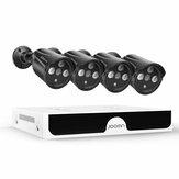 JOOAN 1080P 4CH Zestaw bezpieczeństwa NVR Monitoring domowy HD Kamera sieciowa Night Vision System CCTV