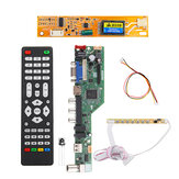 T.SK106A.03 T.SK105A.03 Universal LCD LED TV Controller Driver Board TV/PC/VGA/HDMI/USB+7 Key Button+1pc Lamp Inverter