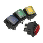 1Pcs 16A 250V 4Pin Waterproof Rocker Switch With Lamp Light Dpst On/Off