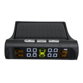 Solar TPMS Wireless Car Tire Pressure LCD Monitoring System with 4 External Sensor