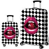 Honana Kiraz Dudaklar Elastik Valiz Kapak Arabası Kılıf Kapak Dayanıklı Bavul Koruyucu için 18-32 İnç Kılıf Sıcak Seyahat Aksesuarları