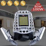 60W / 80W / 100W LED Atelier de garage Lumières de travail Maison Plafonnier Lampe d'atelier déformable