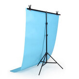 2x1m 2x1.5m 2x2m T-Shape Photography Backdrop Stand Adjustable Photo Background Tripod Stand with 4 Tight Clamps for Studio Video Photography