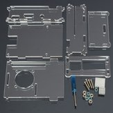 Acrylic Shell With Two Heat Sink For Raspberry Pi 2 Model B & RPI B+