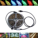 0,5 / 1/2/3/4 / 5M USB Waterproof RGB SMD5050 LED Strip Light Bar TV Achtergrond Verlichting Lamp Kit DC5V