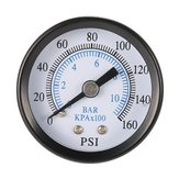 TS-40-10 1/8 Inch 160 Psi 0-10bar Compressor Compressed Air Pressure Gauge Small Double Scale Measurer
