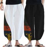 INCERUN Mens Винтаж Baggy Harem Брюки Yoga Baggy Hippie повседневные танцевальные брюки