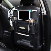 Wielofunkcyjny PU Leather Car Back Seat Storage Bag Multi Pocket Phone Cup Holder Organizer