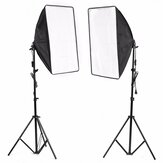 2x Studio Fotografie Video Softbox Light Stand Lighting Kit 50x70cm