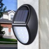 10LED Солнечная Мощность настенного светильника Водонепроницаемы На открытом воздухе Сад Двор Лампа Pathway